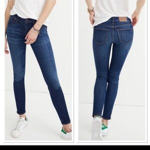 Madewell dark wash 8in rise skinny jeans size 26